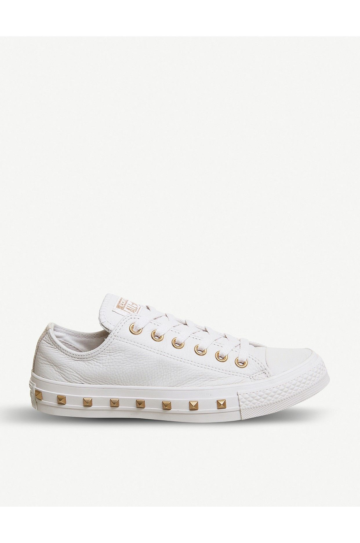 b4e700557b3a18 CONVERSE - All Star studded leather low-top trainers