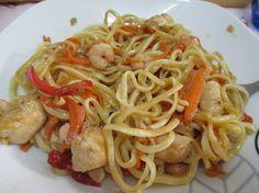 Cocina China Thermomix   Tallarines Chinos De Gambas Y Pollo Comida China Pinterest