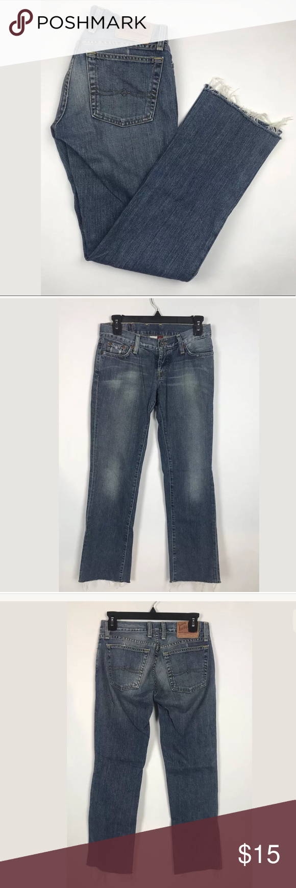 Lucky Brand Button Fly Cuffed Crop Jeans BUNDLE AND SAVE