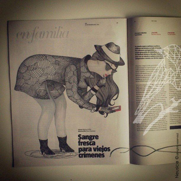 Mi primera ilustración publicada en La Vanguardia, Estilos de vida