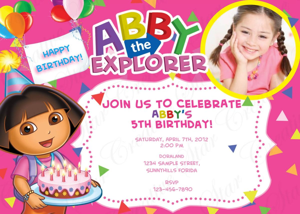 Dora Birthday Invitations Create