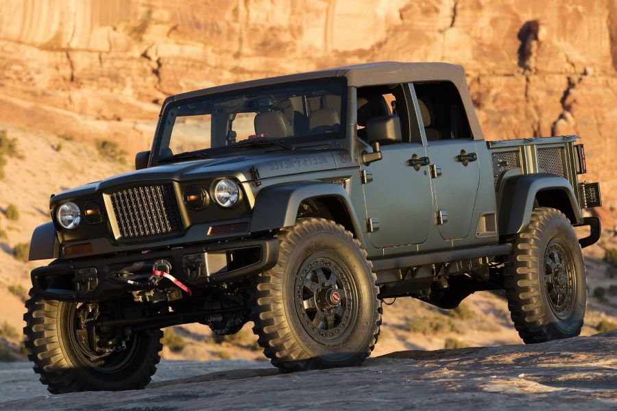 Jeep Crew Chief 715 Concept Conquers Moab In 2020 Jeep Scrambler Jeep Wrangler Pickup Jeep Wrangler