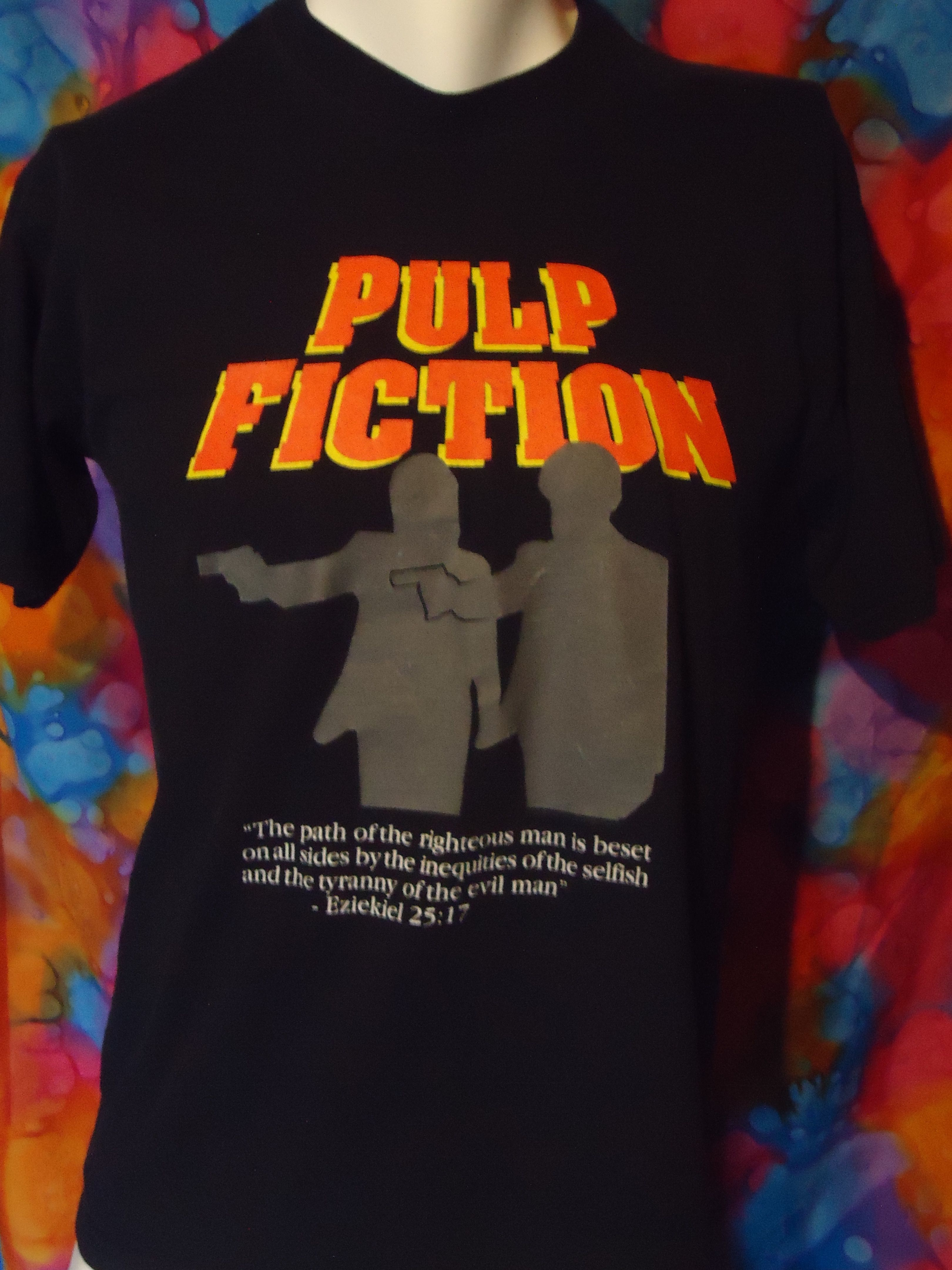 002d2510 Pulp Fiction - Ezekiel 25:17 - Vintage - T-shirt - M in 2019 ...