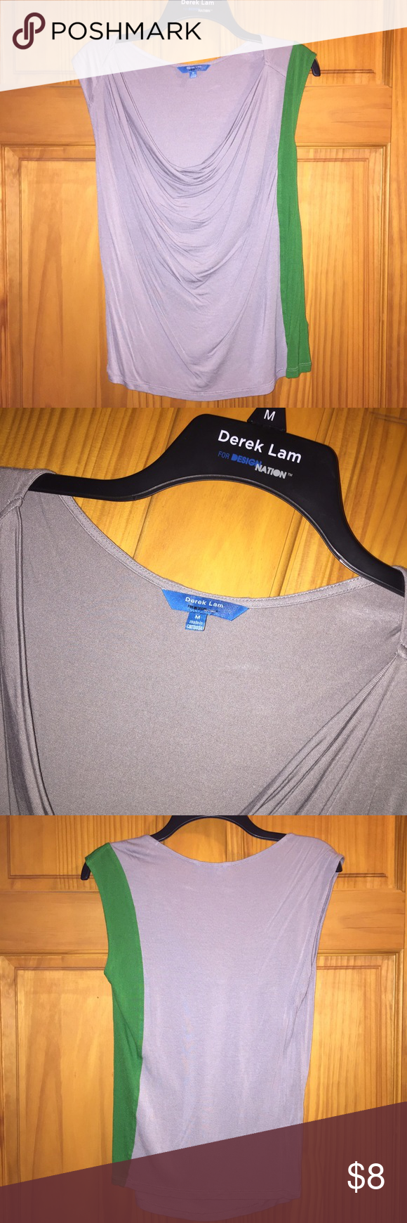 Block Color Drape Neck Tank Soft & comfortable tank great for business attire! Only worn a handful of times. Derek Lam Tops Blouses