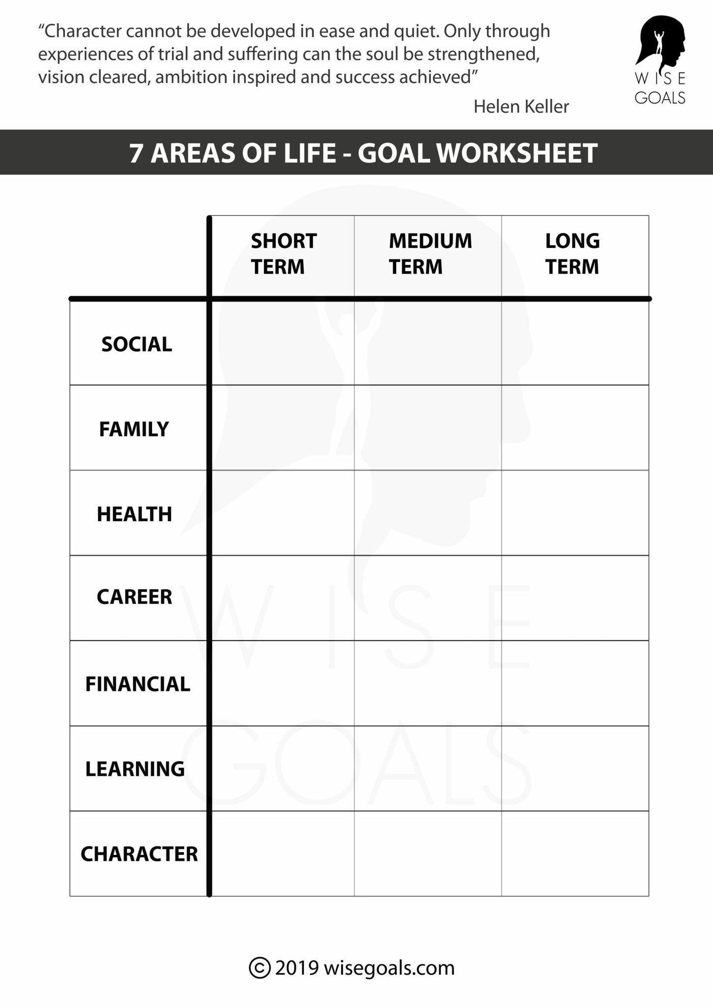 13 Free Goal Setting Amp Tracking Printables For In