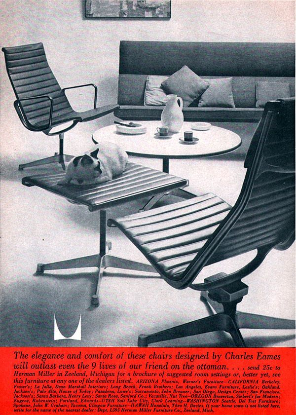 Herman Miller Ad 1960 Restaurant Chairs For Sale Beach