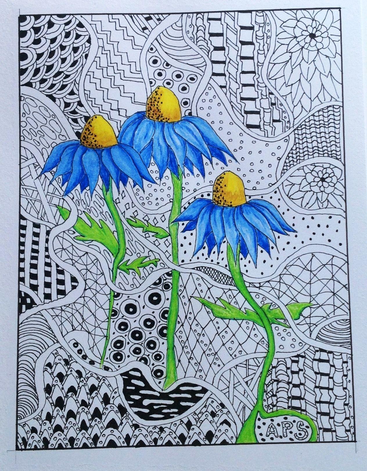 Pen ink derwent inktense pencils by annette sharp - Leinwandbilder malen ...