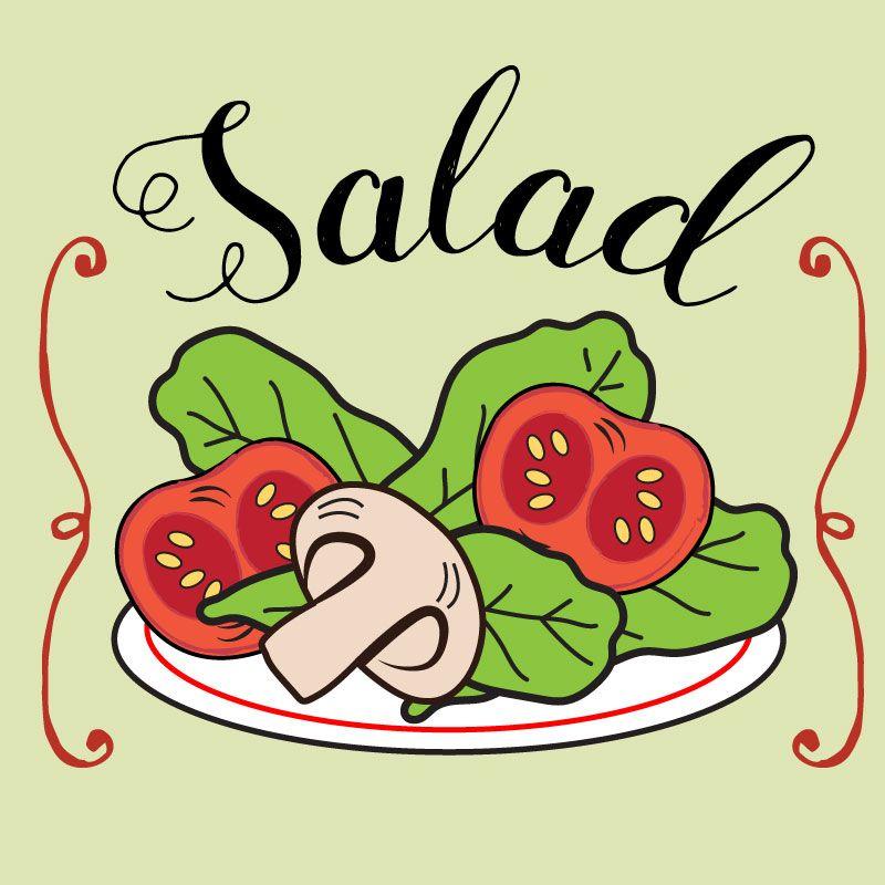 Food clipart, menu clipart, salad clipart | Food clipart ...