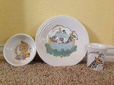 Fiesta fiestaware Noah's Ark 3 Piece Child's Set Retired Collectible