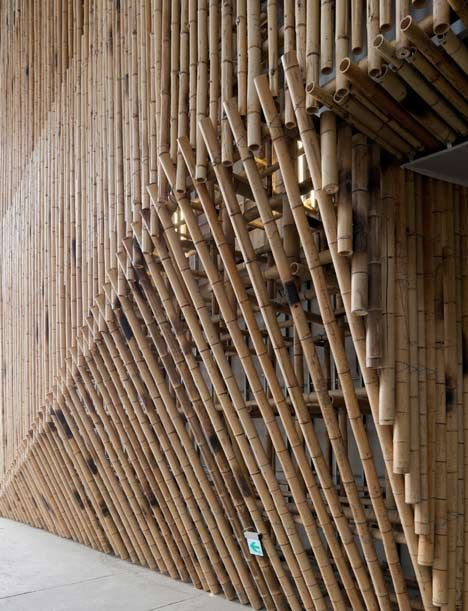 New York Architect Stan Allen Constructed This Pavilion Of Bamboo