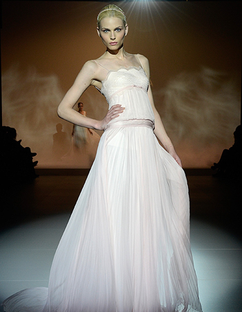 Andrej Pejic Models Bridal Gowns in Barcelona...I know that is men ...