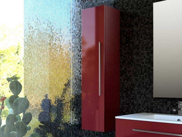 Next color colonna bordeaux mobili bagno