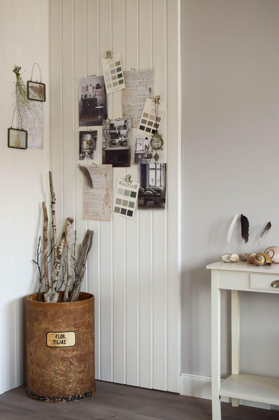 Schon Dekoidee Wandverkleidung DIY Aus Holz Moodboard Inspirationswand  Kreidefarbe Von Painting The Past Vertaefelung Beadboard Selber Machen