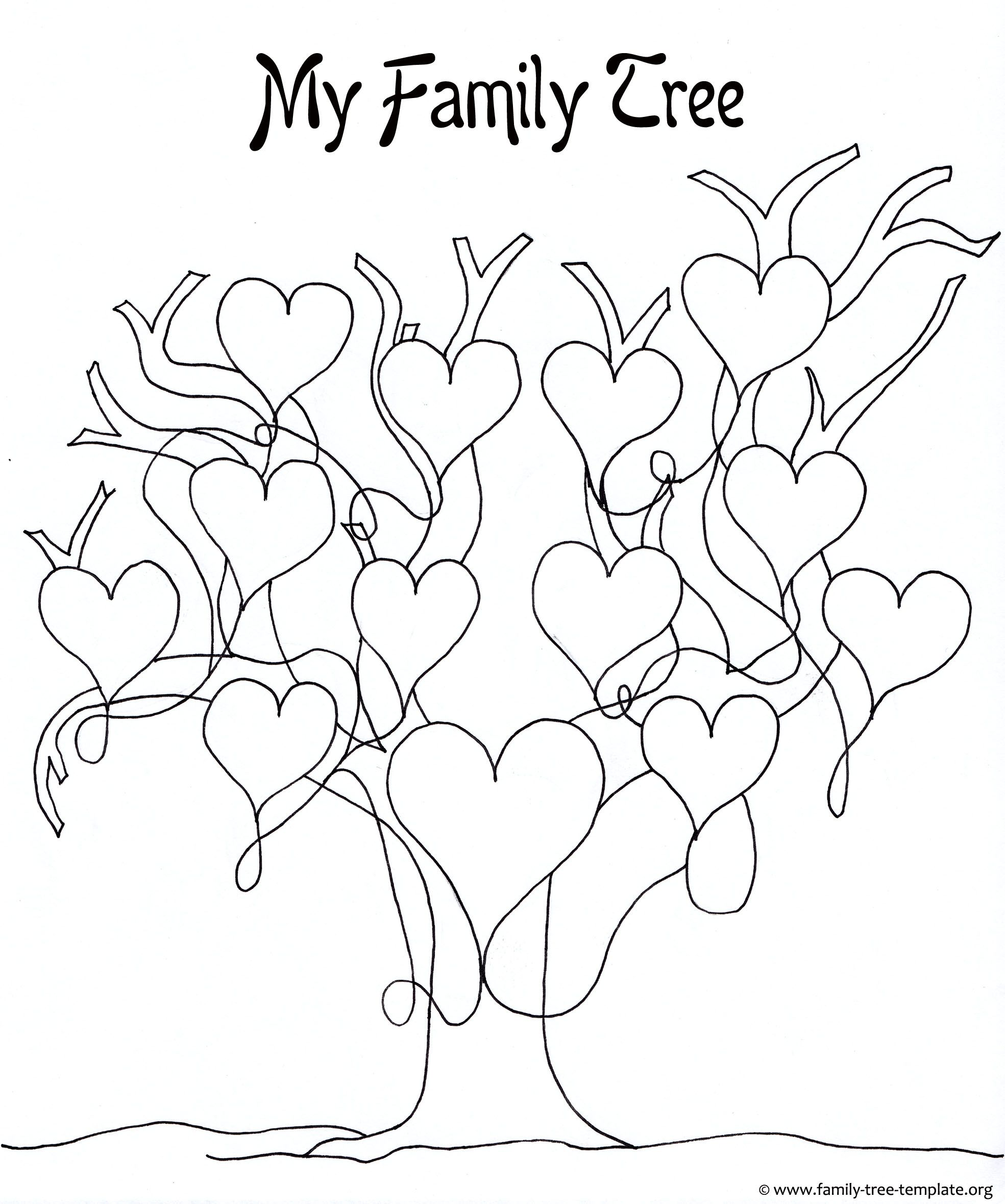 Printable Family Tree For Girls To Color And Have Fun With