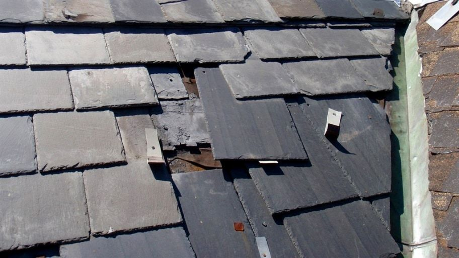 How To Fix A Slate Roof Tile In 2020 Slate Roof Tiles Roof Repair Slate Roof