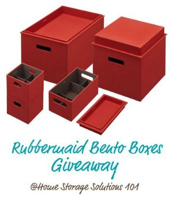 Rubbermaid Bento Boxes, a new type of decorative storage box that also organizes the contents. Enter the giveaway at Home Storage Solutions 101.