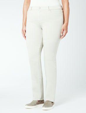 Pantalone slim in bull di cotone