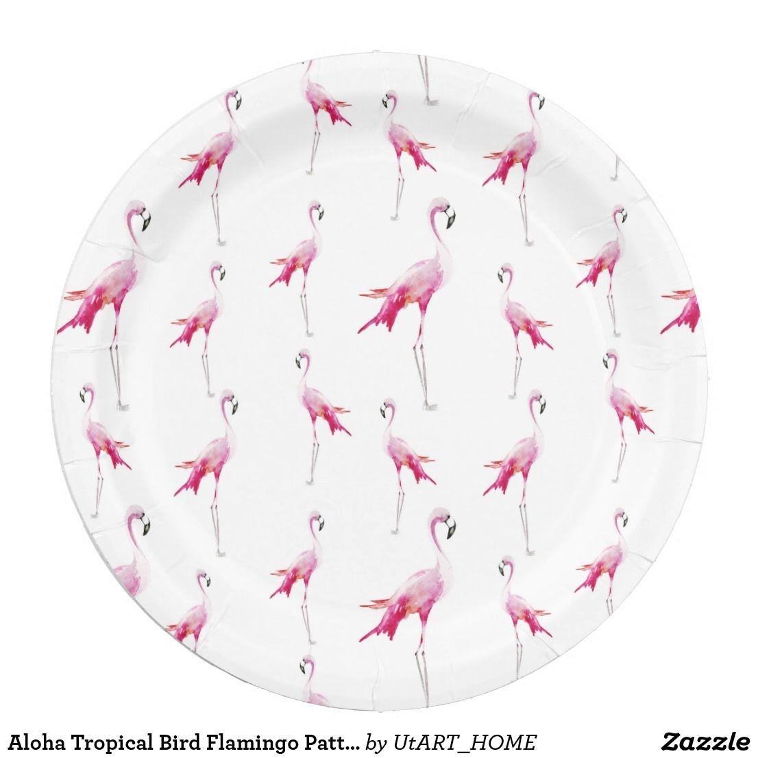 Aloha Tropical Bird Flamingo Pattern Paper Plate  sc 1 st  Pinterest & Aloha Tropical Bird Flamingo Pattern Paper Plate | Flamingo pattern