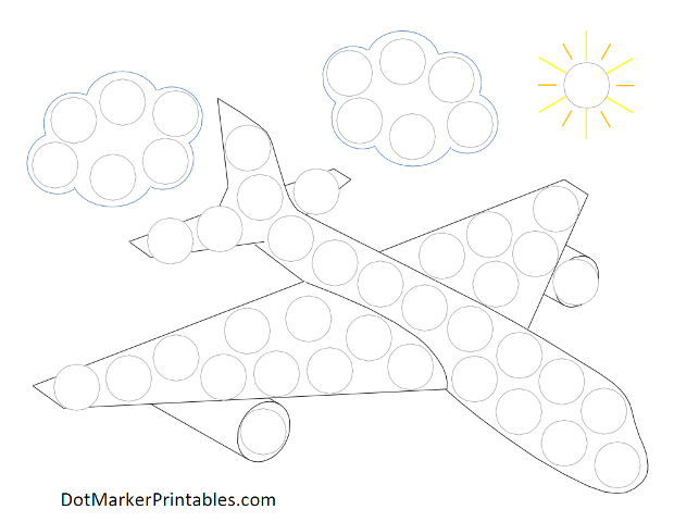 Dot Marker Printables Airplane What To Do At School