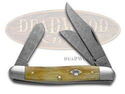 CASE XX Damascus Barnboard Burnt Natural Bone Medium Stockman 1/500 Pocket Knife - CA2857 | 2857 - 021205028576