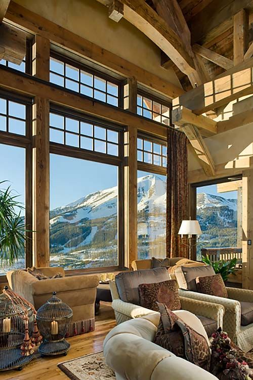 Mountain Home Interior Design Ideas: Handcrafted Timber Frame Home With Astonishing Rocky