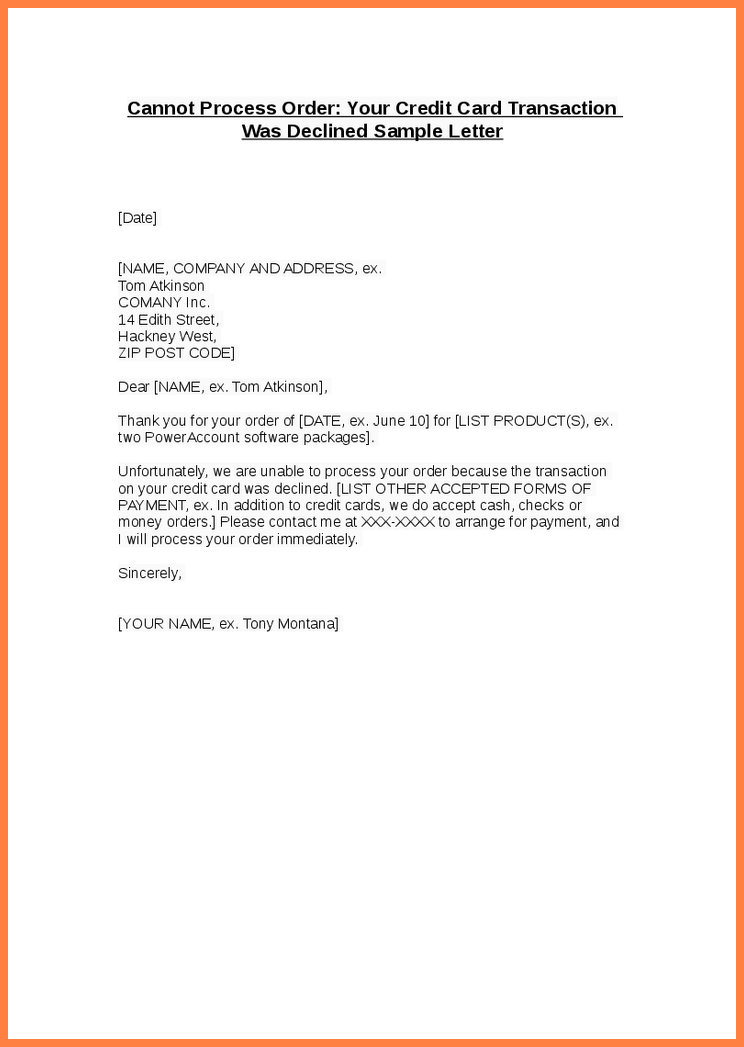 Credit Card Cancellation Letter Template Sample Request Cancel
