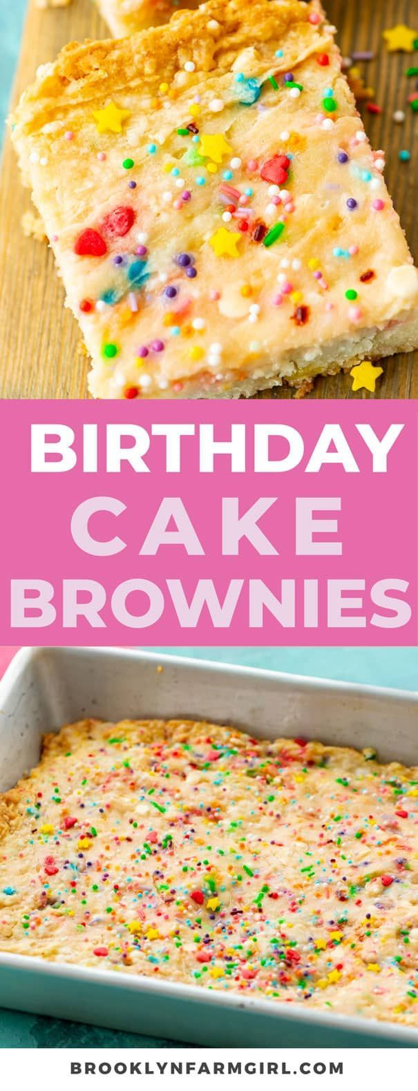 Birthday Cake Brownies Easy to make sprinkle Confetti Cake Batter Brownies recipe. These funfetti b