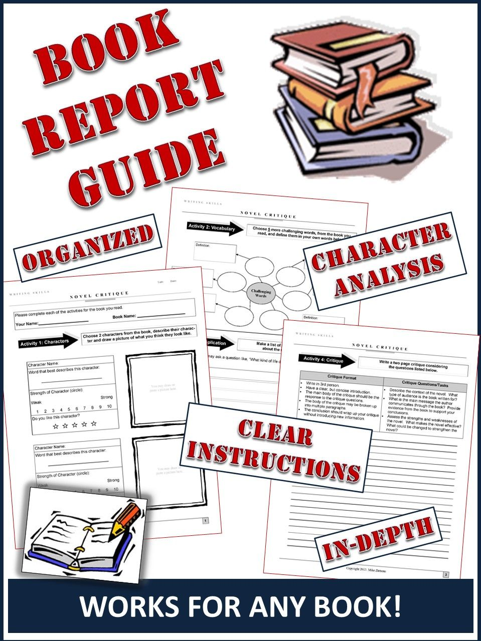 Book Report Template A Clear StepByStep Guide For Any Class