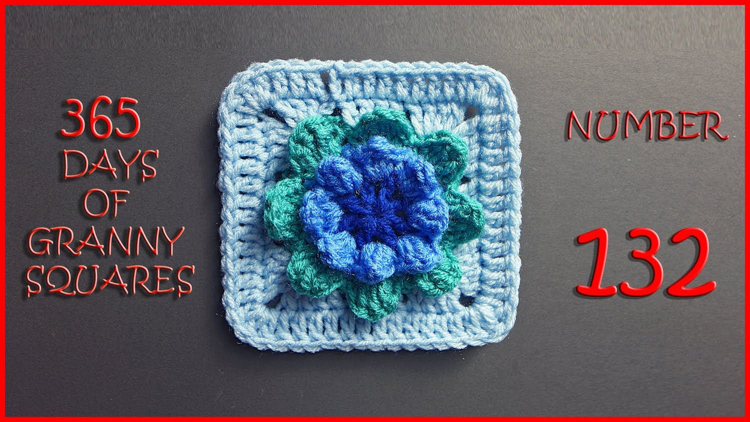 365 Days of Granny Squares Number 132 | CROCHET/SQUARES | Pinterest ...