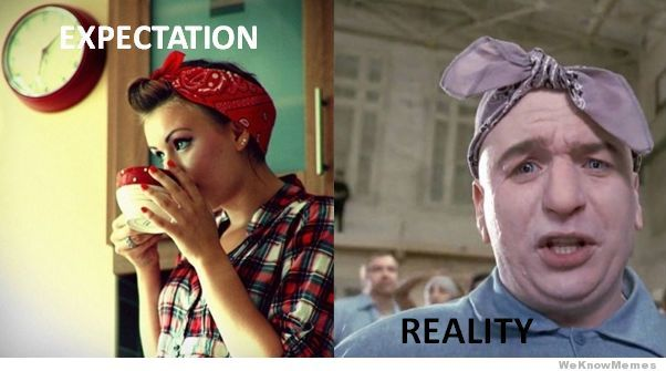 Image result for head scarf expectation vs reality
