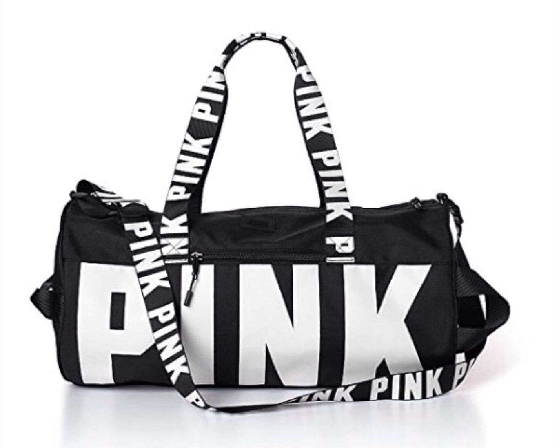 Victoria/'s Secret Pink Black Marble Duffle