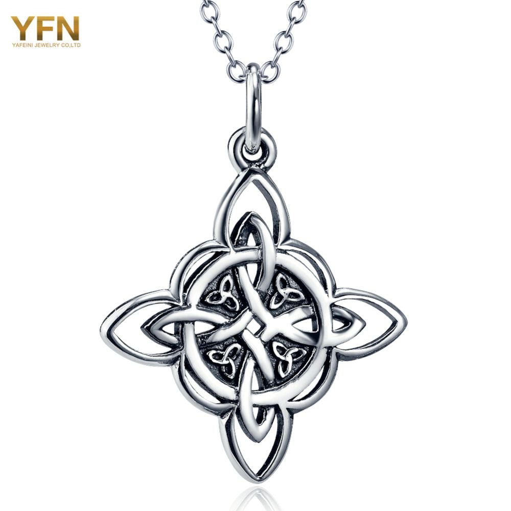 mens s size pendant leather numerology necklace steel spiritual with black cord sliding five stainless products a small men