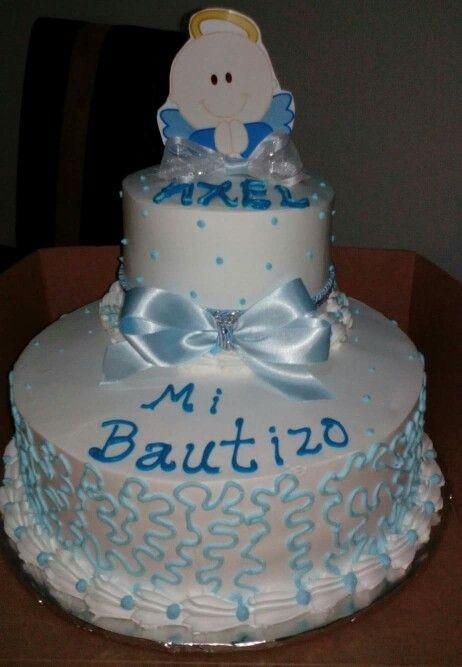 Pastel bautizo sencillo ara decorar modelo f cil para - Decoracion para bautizo en casa ...