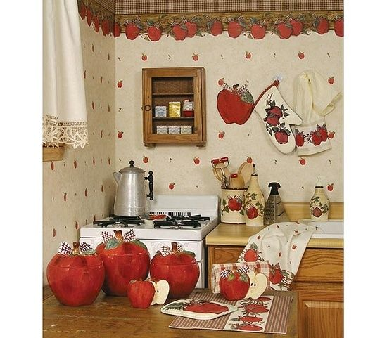 Bubble And Glossy Kitchen Decorating Themes Amazing Apple Kitchen