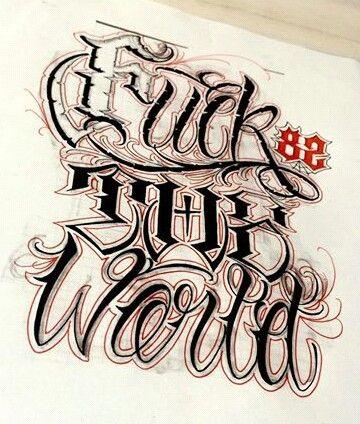 Chicano Lettering fonts Pinterest Letras, Caligrafía y Tipografía - Letras Para Tatuajes