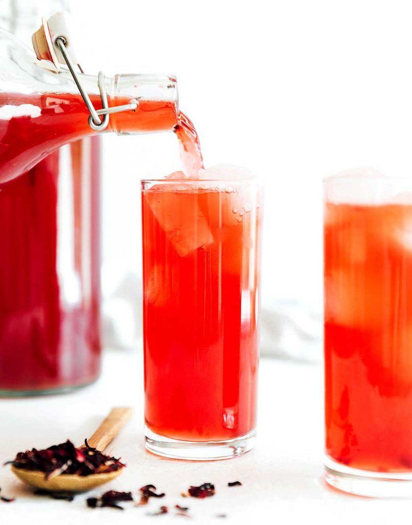Hibiscus Kombucha 1st And 2nd Fermentation Options Recipe In 2020 Kombucha Kombucha Flavors Kombucha How To Make