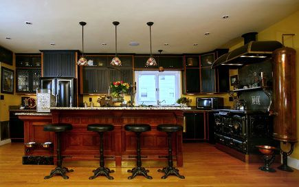 Steampunk Kitchen With Black Cabinets I Wish