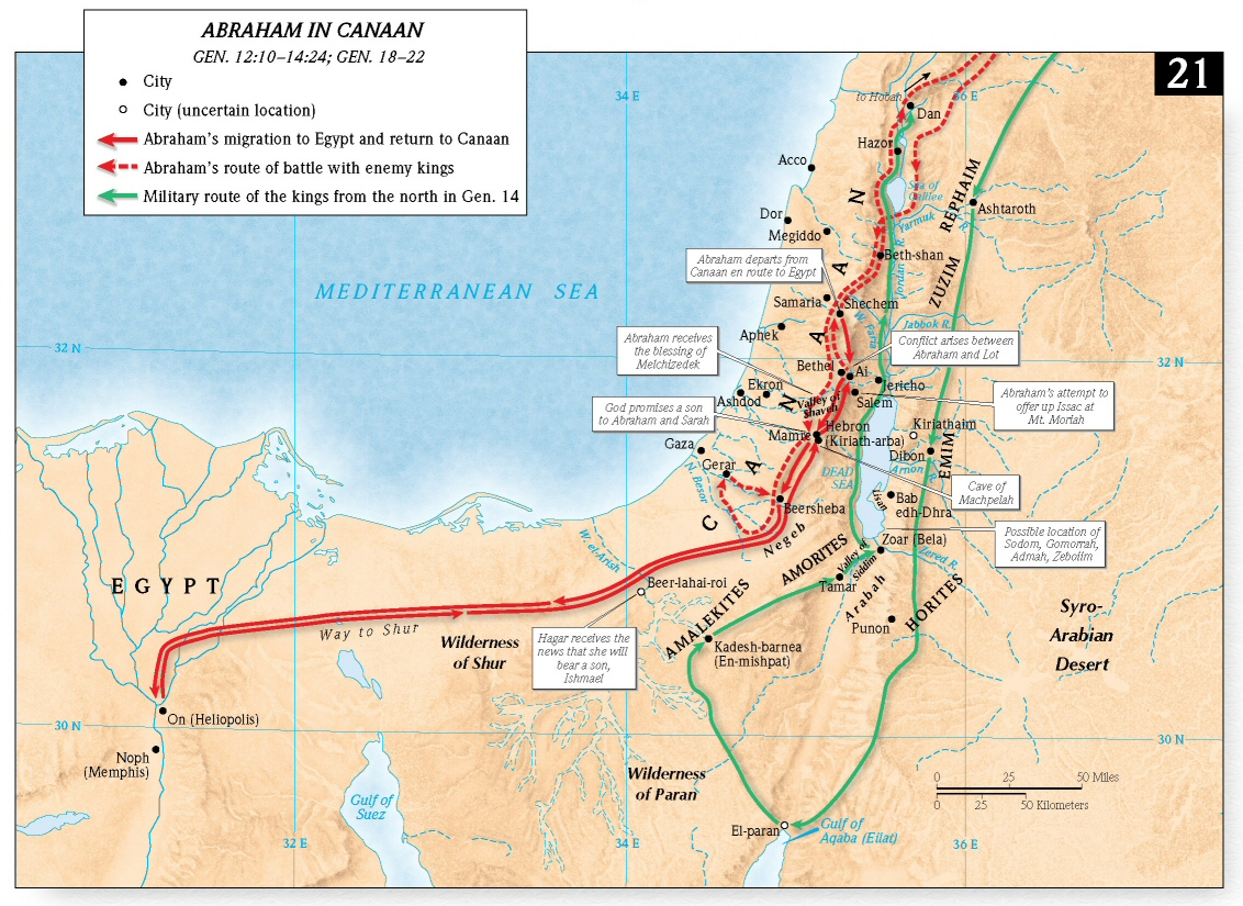 Ancient Canaan Map