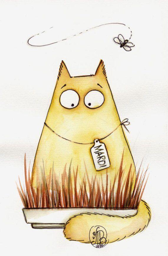 как рисовать смешных котов рисунки еще
