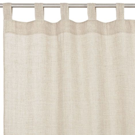Plain Colored Linen Curtain Seen At Zara Home