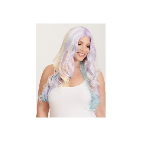 fbf8ddd8460 Plus Size Halloween · Torrid Leg Avenue Pastel Rainbow Wig ( 17) ❤ liked on  Polyvore featuring costumes
