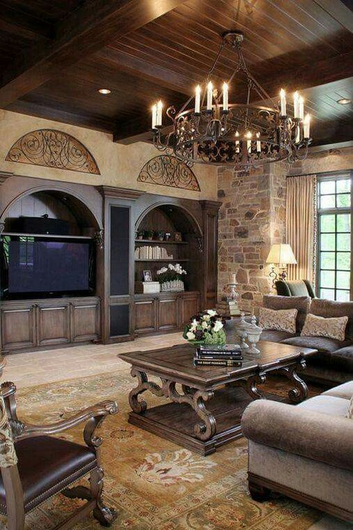 Tuscan Style Living Room (14 Tuscan style, Living rooms and Room