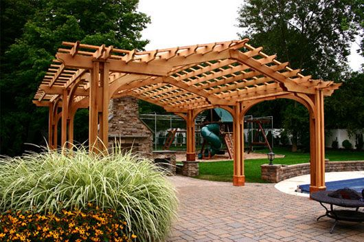 Large Outdoor Living Pergola 2a - Large Outdoor Living Pergola 2a Outside Rooms Pergola, Pergola