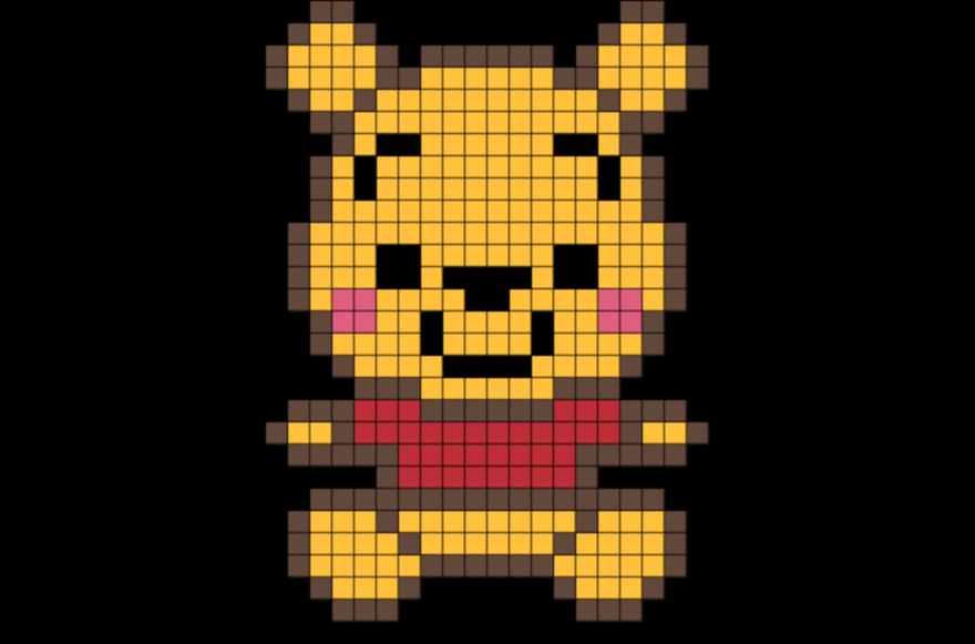 Baby Pooh Pixel Art Dessin Sur Petit Carreaux Pixel Art