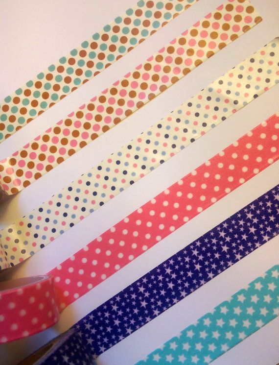 dots stars washi tape planners crafting erin condren happy planner
