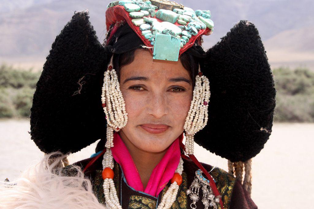 India (Ladakh). Dances of the Ladakhi people in traditional dress.
