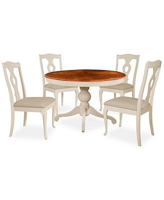 Branchville White Round 5 Piece Dining Room Furniture Set Macys Pleasing Dining Room Chairs Online Decorating Inspiration