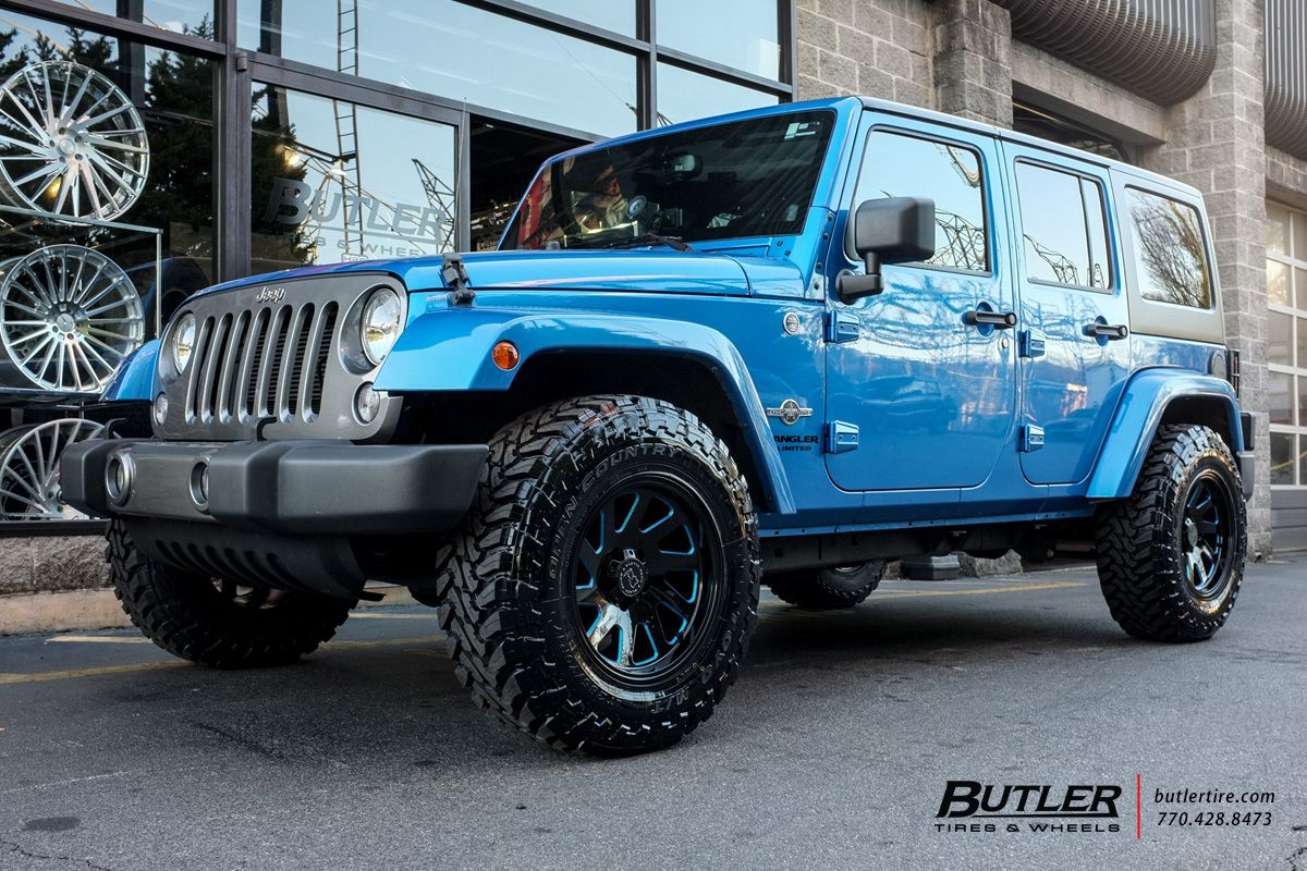 Jeep wrangler with black rhino thrust wheels exclusively from butler tires and wheels in atlanta ga image number 10233