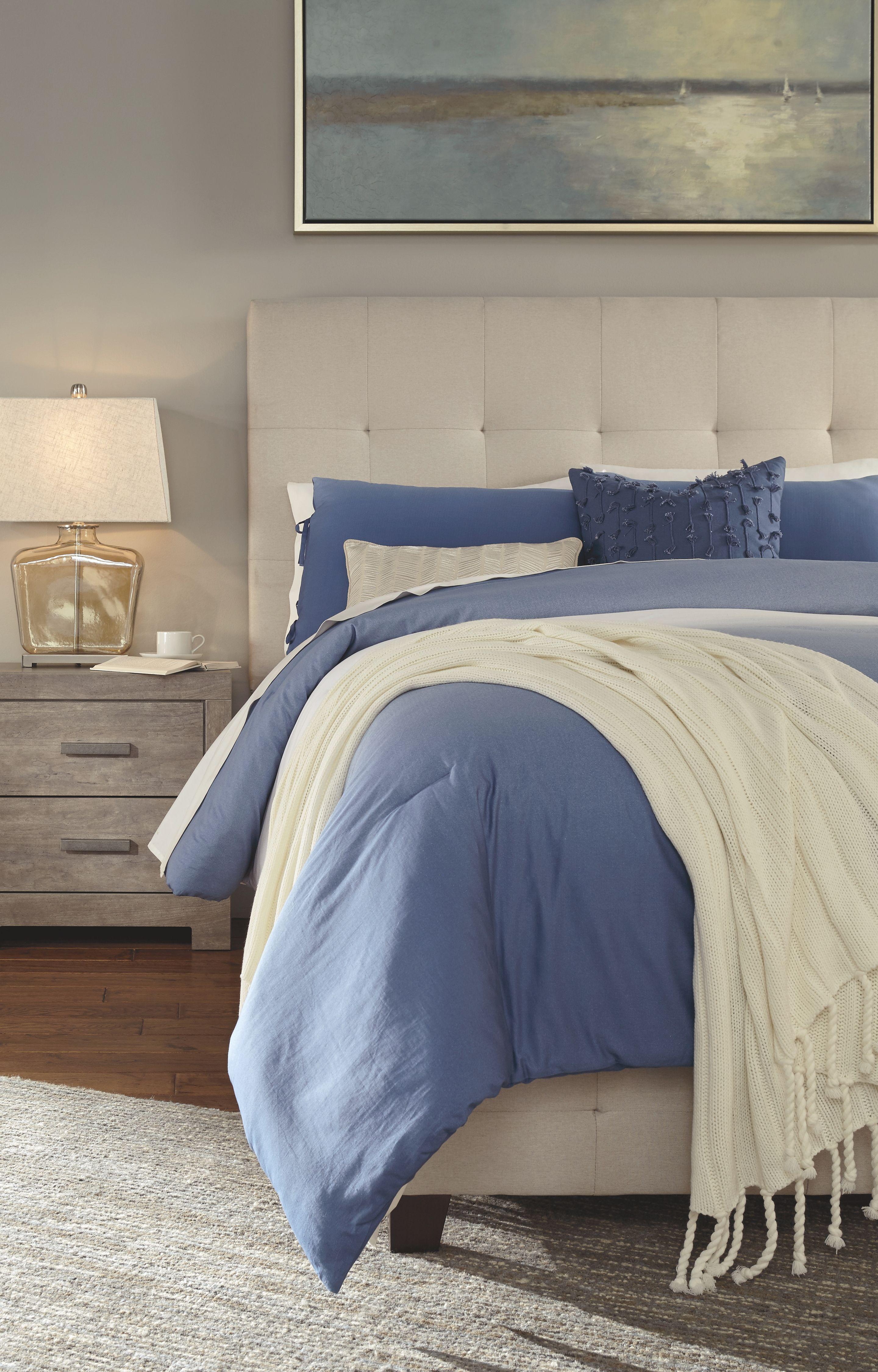 Best Dolante Queen Upholstered Bed Beige Queen Upholstered 400 x 300