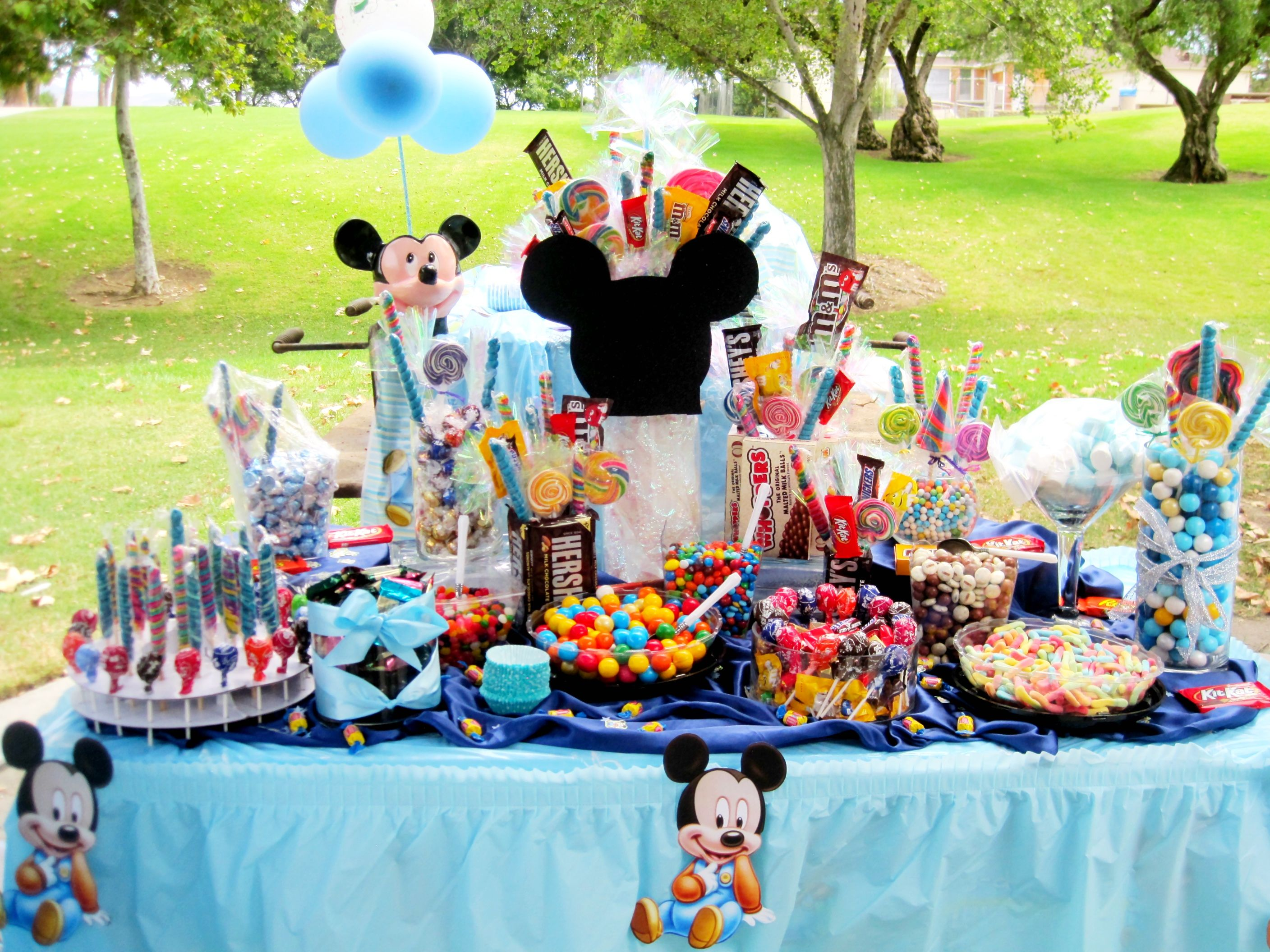 birthday party ideas candy table for mickey mouse party